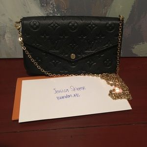 Louis Vuitton Pochette Felicie Noir Empriente New